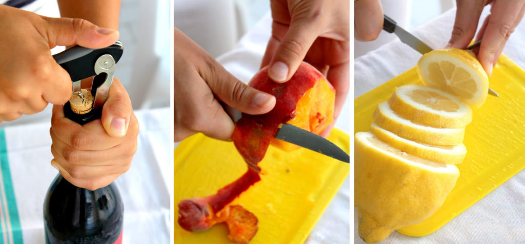 sangria preparazione fatta in casa