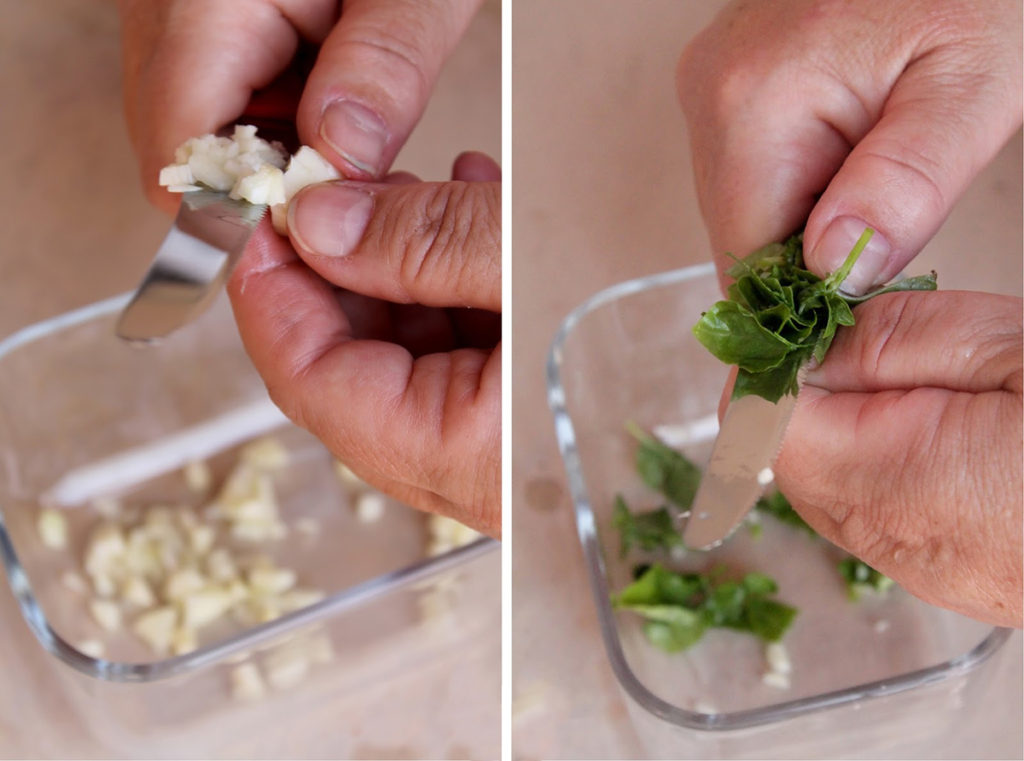 pasta puvirieddi preparazione aglio basilico