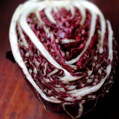 Risotto al radicchio, fontina e noci