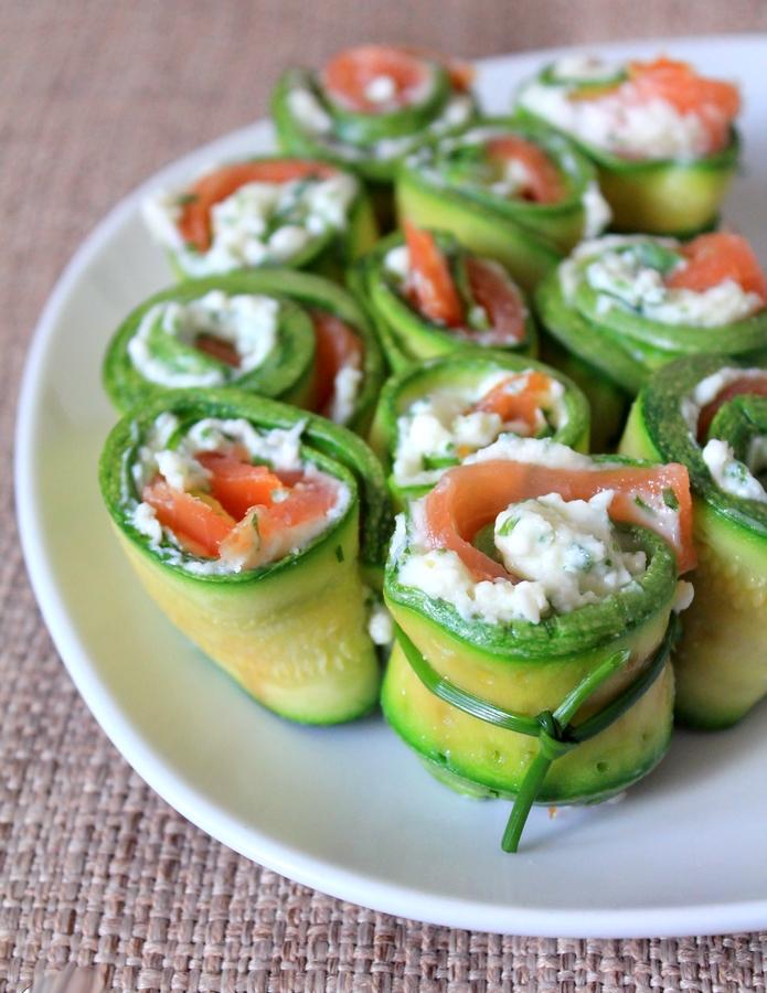involtini zucchine salmone stracchino erba cipollina