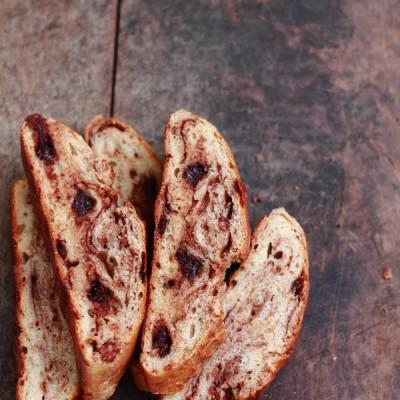 Pane dolce al cioccolato (velocissimo e senza impasto)