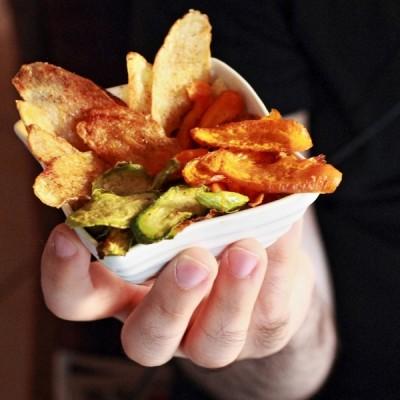 Chips di verdure speziate al forno