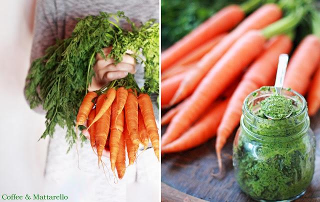 pesto di ciuffi di carote e noci