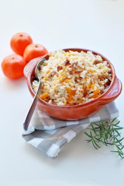 Preparato per risotto ai funghi, zucca e clementine