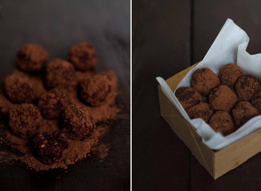 tartufini raw cioccolato e cannella