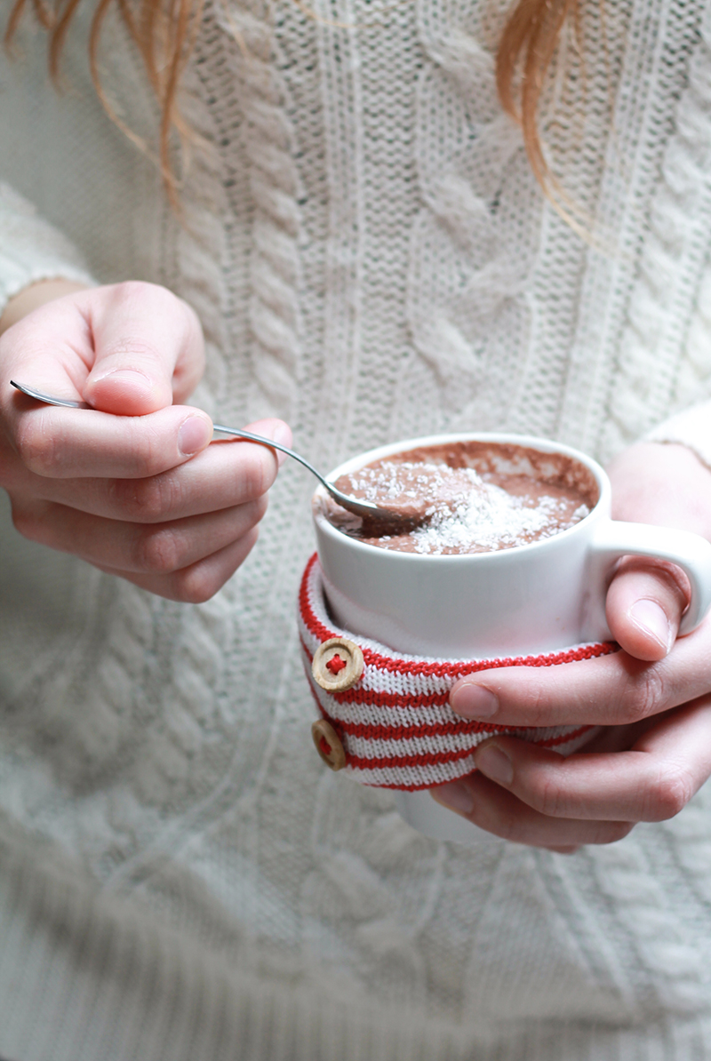 cioccolata calda cremosa alle mandorle