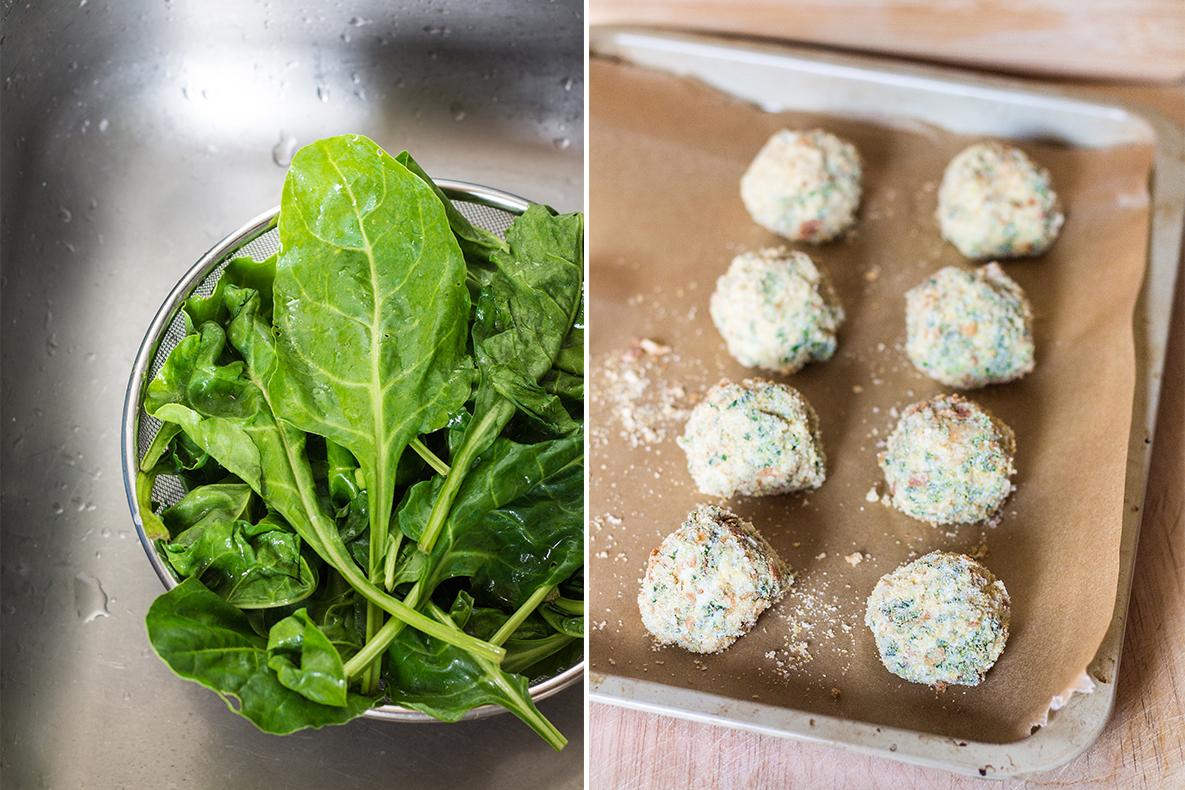 polpette di ricotta e spinaci al forno