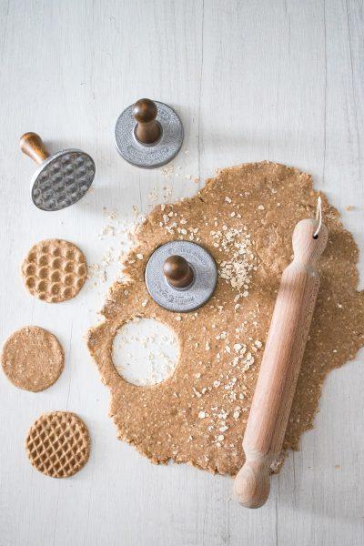 Biscotti integrali all'avena con olio di cocco